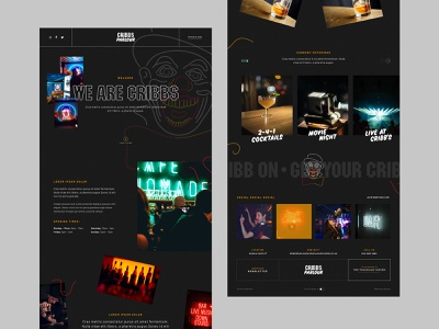Cribbs Parlour | One Pager logo branding website design clown night club bar web design website homepage one page site one pager