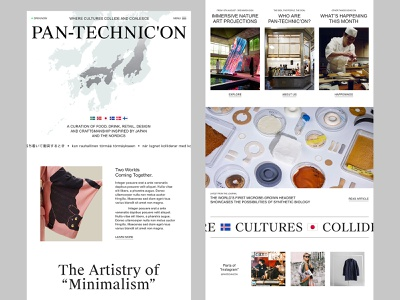 Pantechnicon (2/2) | Homepage Concept nordic scandinavia japanese webpage header ui ux website design web design website homepage