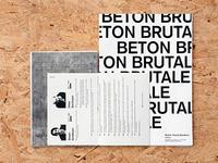 Béton Brutale | Editorial