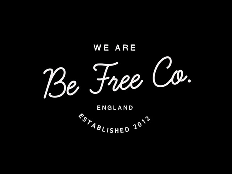 Be Free Co | Identity retro indie vintage worn ident curvy clothing branding apparel logo idea