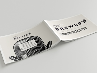The Brewery | Brochure paper book simple vintage minimal editorial layout case study magazine spreads brochure