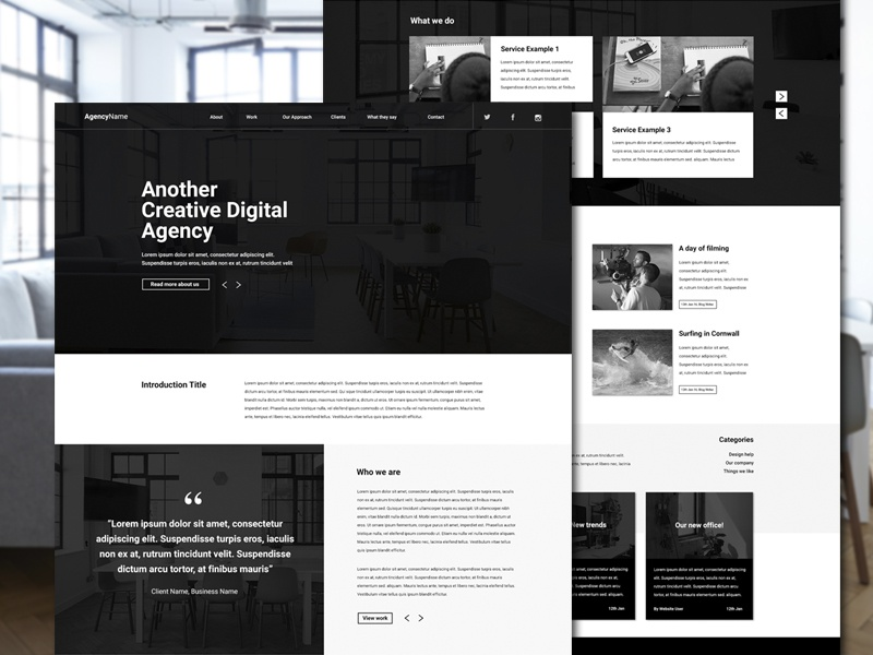 Agency | Homepage trendy edgy simplistic minimal website design ux ui design portfolio agency homepage webpage