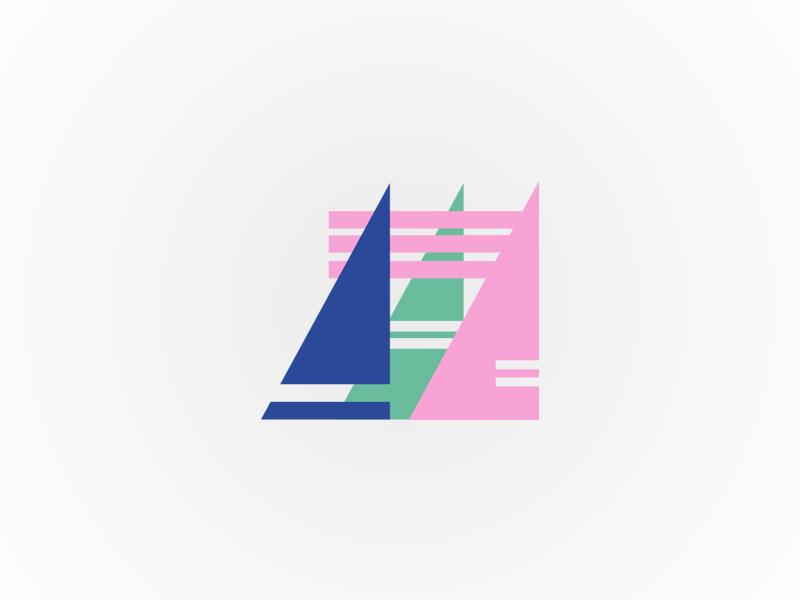 Avast Leisure Club | Identity pastel simple sailing yacht boat sail shapes branding apparel streetwear identity logo