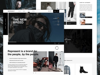 Represent | Homepage Concept