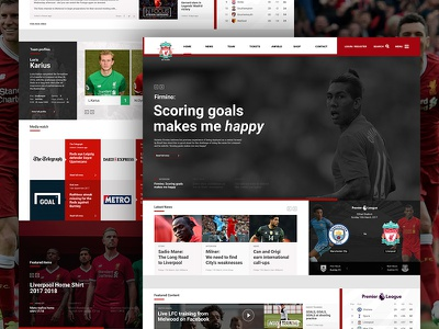 Liverpool FC | Homepage Concept liverpool concept homepage header football web design website website design ux ui liverpool fc lfc