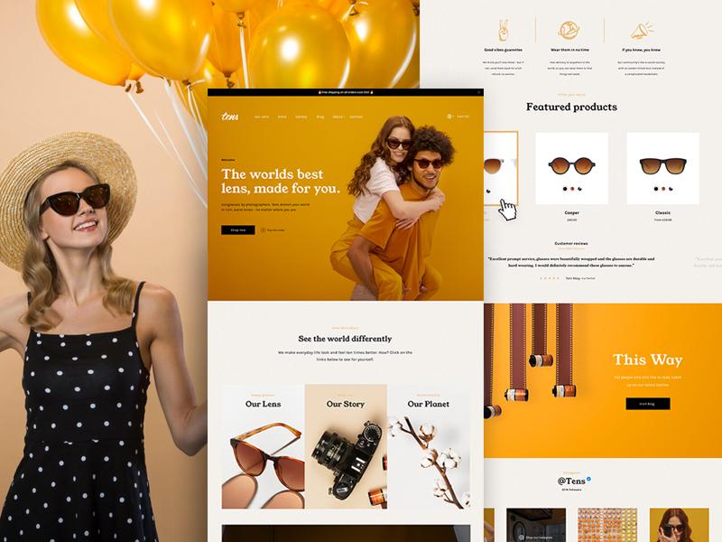 Tens Sunglasses 2018 | Website shopify tens. awwwards web design homepage website shades sunglasses