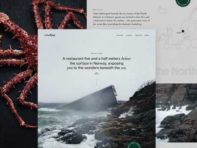 Under | Homepage Concept webpage web design ui ux header website minimal website design ocean restaurant under concept homepage