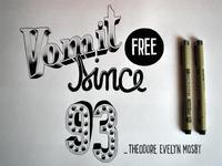 Vomit free since 93