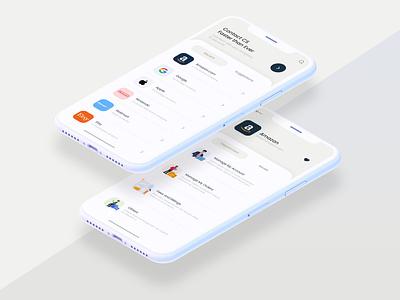 Ezra - Modern Minimalistic App illustration flat ios clean management application iphone ui creamy white minimalistic sleek modern app