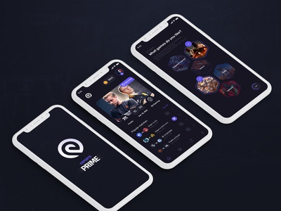 Esports App Concept gamification intuitive clean application app csgo leagueoflegends violet mauve dark gaming esports esport