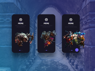 Onboarding eSports Betting Application gaming dark app betting esports design dark ui dark flat iphone ios clean app modern