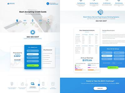 Merchant - Landing Page Design new gradient web red blue green flat modern clean design page landing