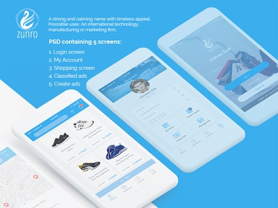 Ecommerce Application iphone product white ecommerce screen clean modern blue store online