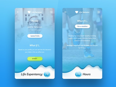 Life Decission Application iphone ios activity modern clean green blue application decission life