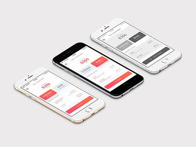 Tesla Investing App wireframe orange red design mobile app tesla clear