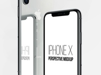 FREE iPhone X Perspective Mockup