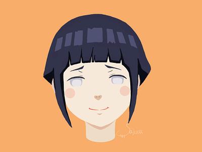 Hinata naruto illustration 插图 火影忍者