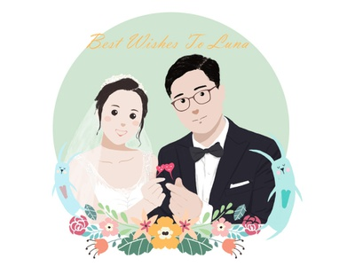 wedding flower wedding 手绘 illustration