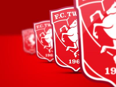 Dubbeli shields website background wallpaper football soccer fctwente red white shadow shield blur dof twente