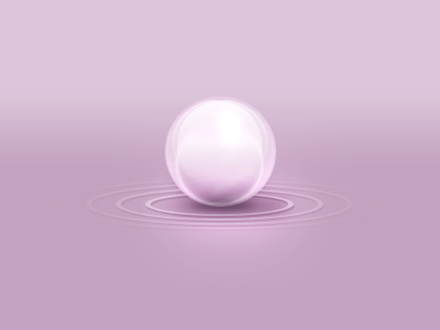 Orb orb pink gradient perspective circles rings shadow glare