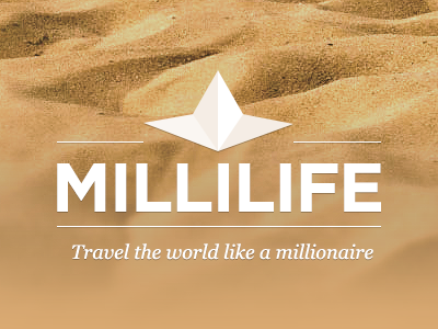Millilife Logo millilife logo luxurious travel milli millionaire brown star