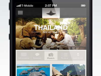 Millilife App Design millilife app iphone travel inspiration navigation photos shots