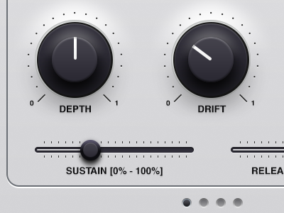 Synth mockup synthesizer synth knob slider mixer vector grey gradient bevel pagination