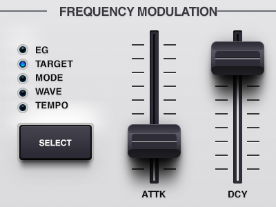 Synth mockup 2 synthesizer synth knob slider mixer vector grey gradient bevel pagination