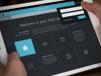 Flat iPad Tablet App & Dashboard - Home Screen