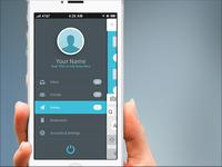 FlatApp Mobile Phone App - Bootstrap Menu Front