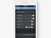 iPhone iOS App Bootstrap - MyApp - Settings Screen
