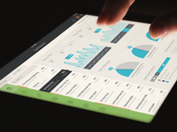 iOS / iPad Flat Dashboard & UI ipad ios 7 iphone dashboard ui app ipad app flat dark white horizontal vertical