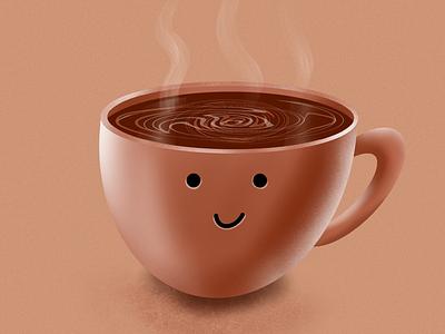 coffee illustration mug cafe illustration coffee procreate
