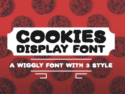 Cookies - A wiggly display font social media font playful font wiggly font display type display font cookies free hand handwritten typeface font