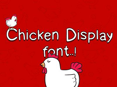 Chicken display font - Handwritten font typogaphy display font free hand chicken font font