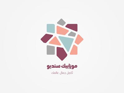 Mosaic studio logo oriental arabic logo type logo design mosaic logo