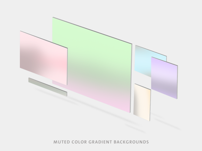 Muted Color Gradient Backgrounds gradient background gradient muted colors blurred background clean ui clean