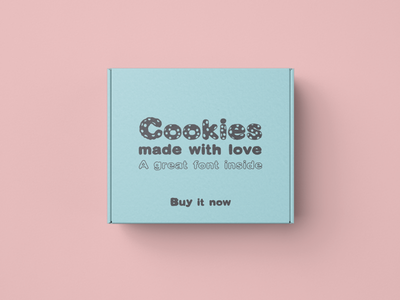 Cookies font test on package fun fonts font family font design cookies playful font font display font