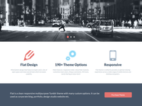 FLAT - Responsive Business Tumblr Theme