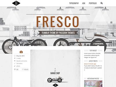 FRESCO - Responsive Multipurpose Tumblr Theme blog clean css3 html5 jquery minimal parallax portfolio responsive social theme tumblr