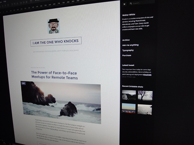 Sneak peek of an upcoming Tumblr theme tumblr minimal blog theme typography clean webdesign responsive html5 photo css3 tumblr theme