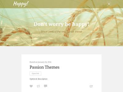 Sneak peek of new Tumblr theme css3 html5 minimal responsive theme blog clean tumblr webdesign tumblr theme photo typography