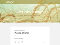 Sneak peek of new Tumblr theme