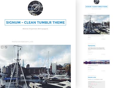 SIGNUM - Clean Responsive Tumblr Theme minimal blog tumblr clean flat theme portfolio responsive template