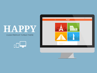 HAPPY - Clean Responsive Tumblr Theme #2
