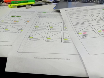 Wireframe of Blog