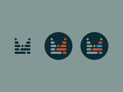M Mark - WIP syntax circle badge lines code logo mark m