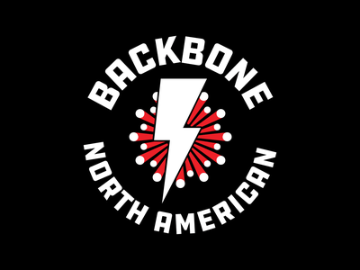 Backbone Logo badge logo optic fiber bolt