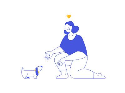 Simplifying | Character Design creative design app app concept product uiillustration pet love doodle dog lineart blue illustrator branding ui adobe illustrator portrait digital vector design illustration