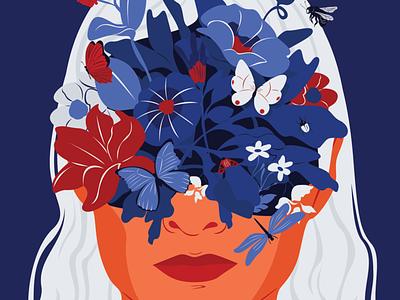 Our Planet Week challenge (4/5) digital art adobe illustrator design digital vector editorial illustration insects nature botanical floral color palette abstract portrait illustration illustrator
